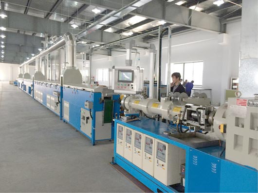 Single extrusion production line